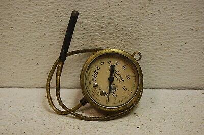 Vintage Marsh Instrument Co Brass Gauge 2-18 Temperature Glass Steampunk