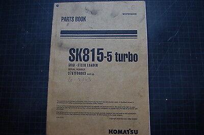 Komatsu Sk815-5 Skid Steer Loader Parts Manual Book Catalog List Shop Turbo List