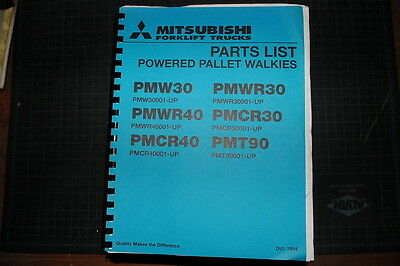 MITSUBISHI/CATERPILLAR Pallet Walkie Forklift Parts Manual Book spare CAT - Mitsubishi Forklift Parts