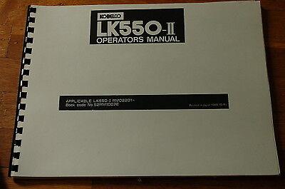 Kobelco Lk550 Front End Wheel Loader Owner Operator Operation Manual Guide Book