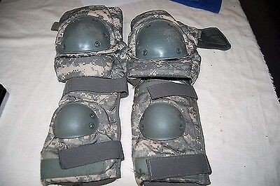 USGI MILITARY KNEE & ELBOW PAD SET CHOOSE STYLE 1 PAIR PAINTBALL TACTICAL WORK