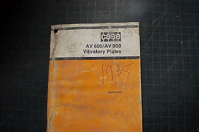 Hülle Av 600 900 Vibration Plate Compactor Betrieb Operator Eigentümer Manuell - Vibrations Plate Compactor