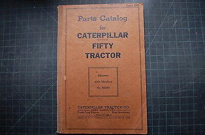 Cat Caterpillar Fifty 50 Tractor Dozer Crawler Part Manual Book Shop Vintage Oem