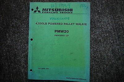 Mitsubishi Pmw20 4000 Lbs Forklift Powered Pallet Walkie Maintenance Manual Book