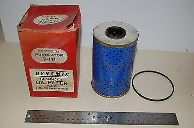 VINTAGE DYNAMIC OIL FILTER,REPLACES PURO P-141, FOR 1958 & UP CHEVROLET V-8