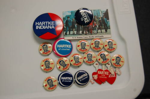 Political Pin/Button  Lot of 20  Senator Vance Hartke of Indiana