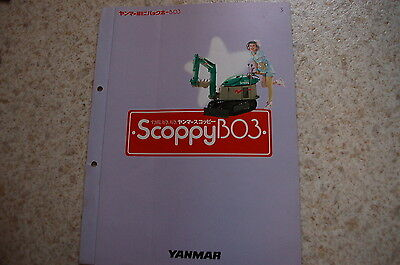 Yanmar Scoopy B03 Mini Excavator Dealer Sales Brochure Japanese Catalog Crawler
