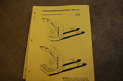 Bt Prime Mover Px 40 R Pallet Truck Owner Operator Maintenance Parts Manual Book