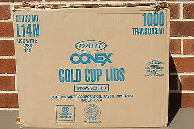 Case of 1000 / DART SOLO CONEX #L14N Clear Cold Cup Lid with Straw Slot (#M3920) Dart Conex Clear Cup