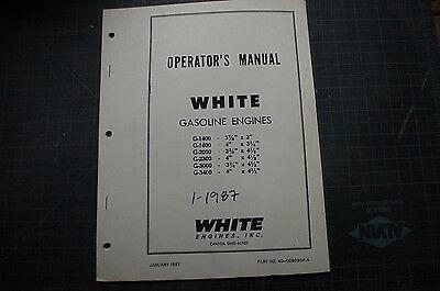 White Lift Truck Forklift Gas Engine Operator Manual Book Shop 1987 Owner Oem