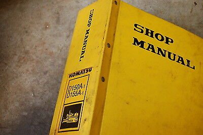 Komatsu D150 D155 Tractor Dozer Crawler Service Manual Book Repair Overhaul Shop