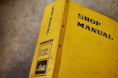 Komatsu D150 D155 Tractor Dozer Crawler Service Manual Book Repair Overhaul Shop