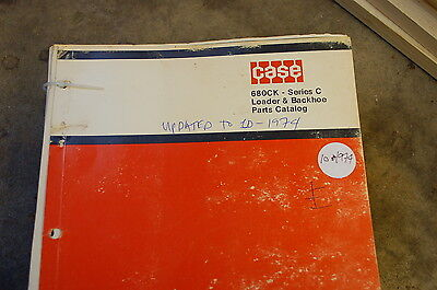 Case 680ck Backhoe Loader Tractor Parts Manual Book Catalog List Spare Front End