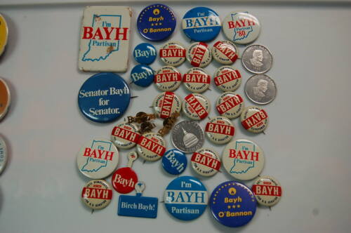 Huge Political Pin/Button  Lot of 35   Senator Birch Bayh of Indiana