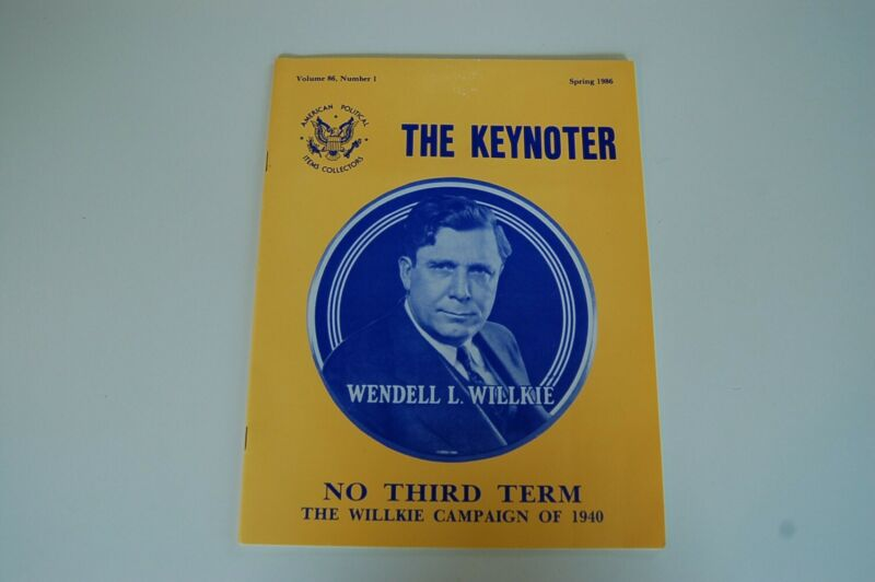 Group of 3 1986 The Keynoter American Political Collectors Magazines