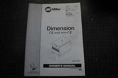 Miller Welder Dimension Arc Weld Owner Operator Operation Manual Book Shop Guide