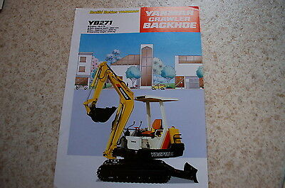 Yanmar Yb271 Mini Excavator Backhoe Dealer Sales Brochure Japanese Crawler Specs
