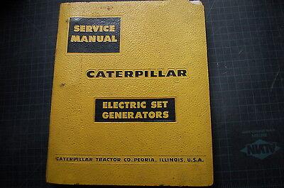 Cat Caterpillar Diesel Electric Set Generator Service Repair Shop Manual 1958