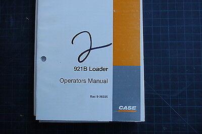 Case 921b Front End Wheel Loader Owner Operator Maintenance Manual Book 1997