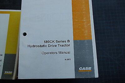 Case 580ck Series B Backhoe Loader Owner Operator Maintenance Manual Book 1995