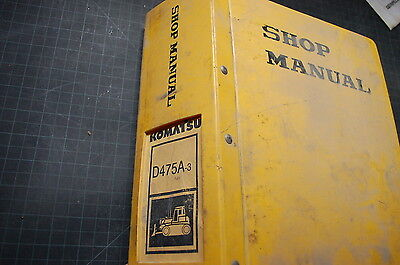 Komatsu D475a 3 Tractor Dozer Crawler Service Manual Book Shop Repair Owner 1999