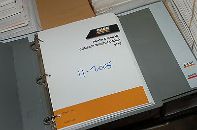 Case 221e Compact Front End Wheel Loader Parts Manual Book Catalog Spare List
