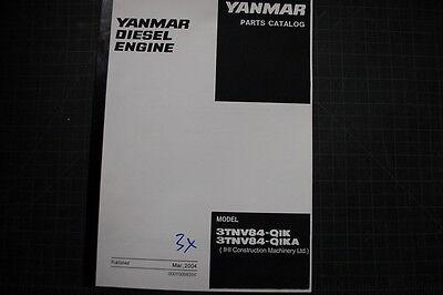 Yanmar 3tnv84 Diesel Engine Parts Manual Book Catalog Shop Spare List Index 2004