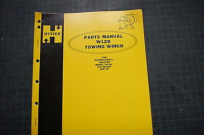 Hyster Winch W12d Part Manual Book Spare Catalog Ih Td-25c Crawler Tractor Dozer