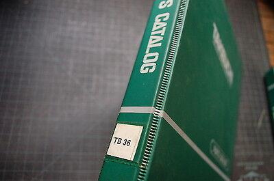 Takeuchi Tb36 Mini-excavator Parts Manual Book Catalog Spare List Index Trackhoe