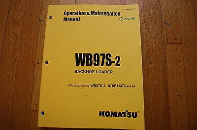 Komatsu Wb97s-2 Backhoe Loader Operation Maintenance Manual Book Operator Guide