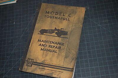 Letourneau Model C Scraper Owner Service Repair Maintenance Manual Book Pan Shop