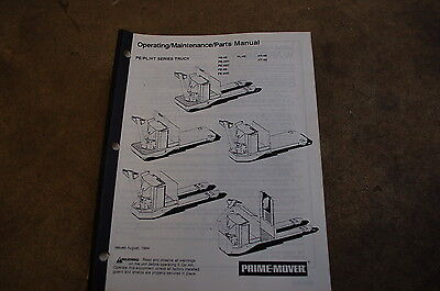 Bt Prime Mover Pe Pl Ht 45 60 Pallet Truck Owner Operator Operation Parts Manual