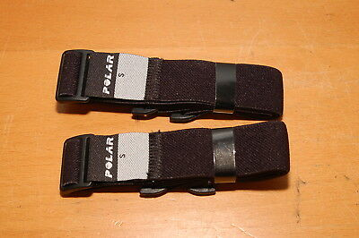 Lot of 2 POLAR HEART RATE MONITOR Replacement Back STRAPS Size Small, fits T31
