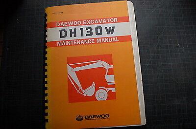 Daewoo Dh130w Wheeled Excavator Repair Shop Service Maintenance Manual Owner Oem