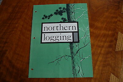 Caterpillar Northern Logging Sales Brochure Vintage Rare Old D4 D6 933 Tractor