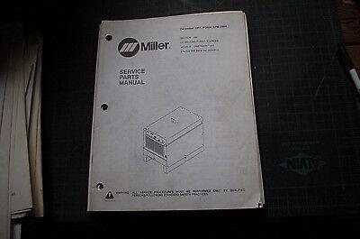 Miller Welder Dimension 400 Dc Power Source Owner Parts Manual Book Catalog 1991