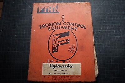 Finn Ths30 Hydroseeder Service Operator Manual Repair Book Shop Guide Operation