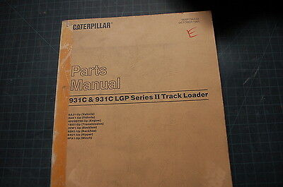 Cat Caterpillar 931c Track Loader Parts Manual Book Catalog List 1988 Spare Oem