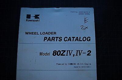Kawasaki 80z-iv-2 Rubber Tire Wheel Loader Parts Manual Book Catalog Factory Oem