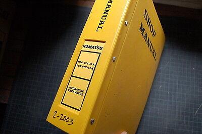 Komatsu Pc400 6 Hydraulic Excavator Service Repair Manual Crawler Trackhoe 2003