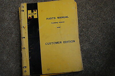 Hyster Winch W6f Parts Manual Book Spare Catalog Crawler Tractor 1975 Dozer List
