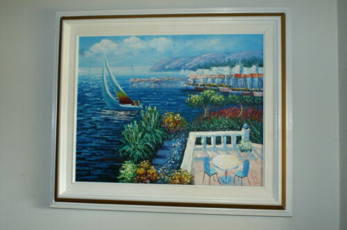 Seascape With Balcony View Oil Painting By Sweeting