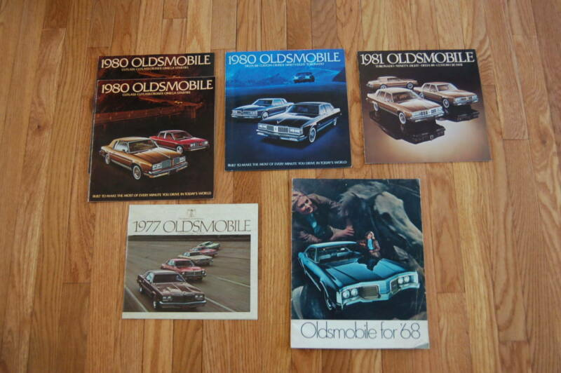 Group of 6 Oldsmobile Vehicle Brochures 1968 - 1981