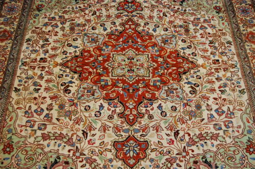 C1930s Antique Detailed High Kpsi Prsian Tabrz Rug 5x6.2 Kork Wool_true Beauty