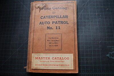 Cat Caterpillar 11 Auto Patrol Road Motor Grader Parts Manual Catalog Book Spare