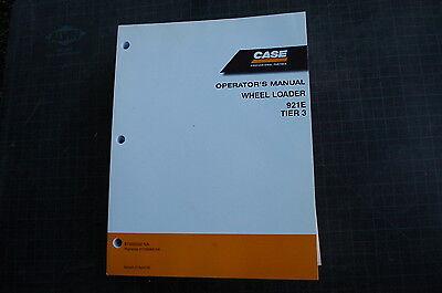 Case 921e Front End Wheel Loader Owner Operator Maintenance Manual Book 2008