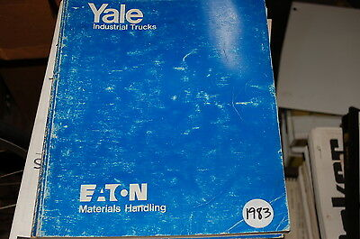 Yale Model Erpt 3 Wheel Electric Forklift Parts Manual Book Catalog List Spare