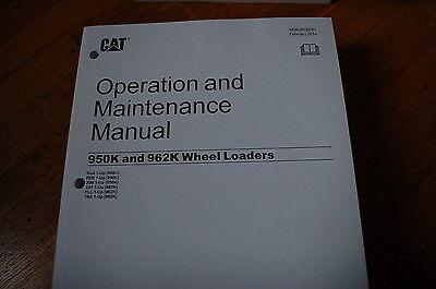 Cat Caterpillar 950k 962k Wheel Loader Operation Operator Manual Book Owner Book