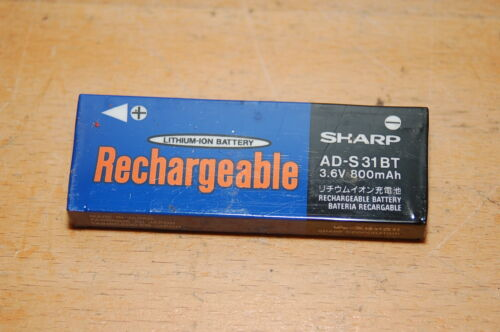 Sharp Rechargeable Battery 3.6V 800mAh (AD-S31BT) For Parts, Repairs or Rebuild