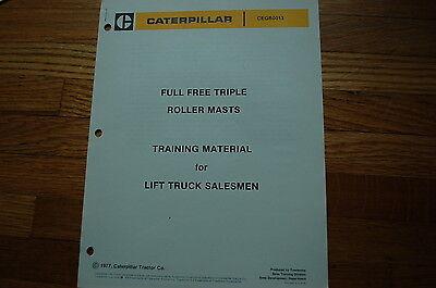 Caterpillar Towmotor Lift Truck Forklift Training Manaul Sales Brochure Cat Book